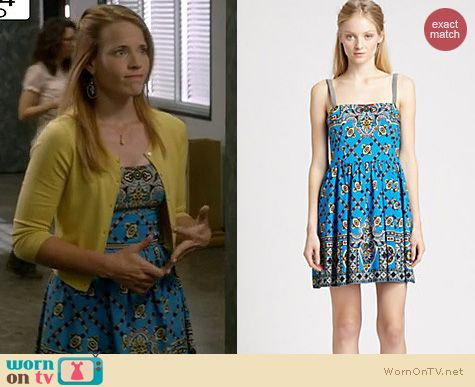 Switched at Birth Fashion: Nanette Lepore Bandana blindfold dress worn by Katie Leclerc