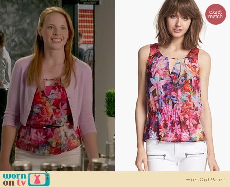 Switched at Birth Fashion: Hinge Floral print crossover tank at Nordstrom worn by Katie Leclerc