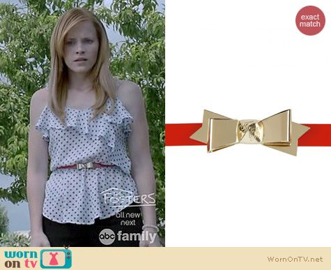 Switched at Birth Style: Ted Baker Bowtun Belt worn by Katie Leclerc