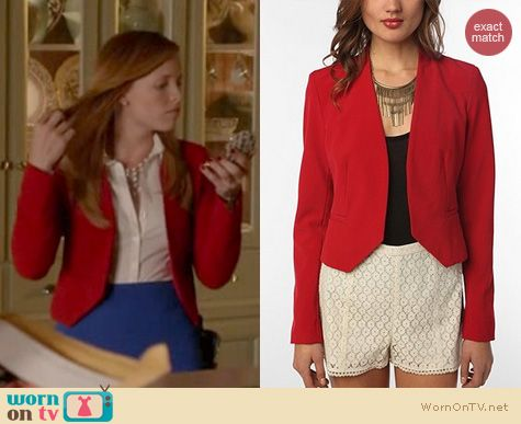 Switched at Birth Fashion: Urban Outfitters Sparkle and Fade silhouette blazer worn by Katie Leclerc