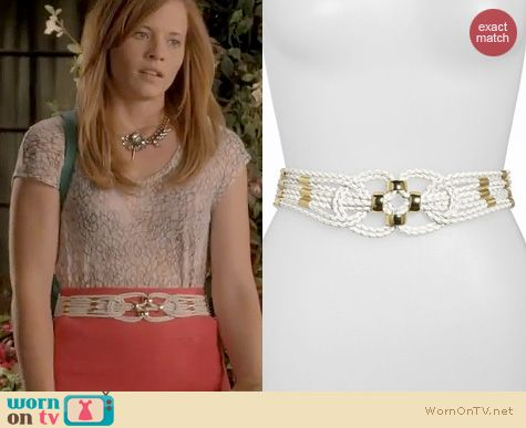 Switched at Birth Style: Another Line Braided leather stretch belt worn by Katie Leclerc
