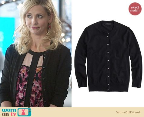 Sydney Roberts Fashion: J. Crew Jackie Cardigan worn on The Crazy Ones