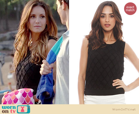 T Bags Los Angeles Crochet Top worn by Nina Dobrev on The Vampire Diaries