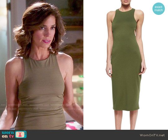 T by Alexander Wang Cutout-Back Luxe Ponte Dress worn by Ana Ortiz on Devious Maids