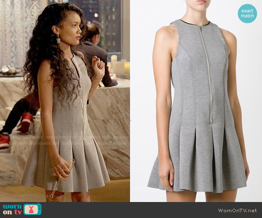 T by Alexander Wang Neoprene Effect Skater Dress worn by Jamila Velazquez on Empire
