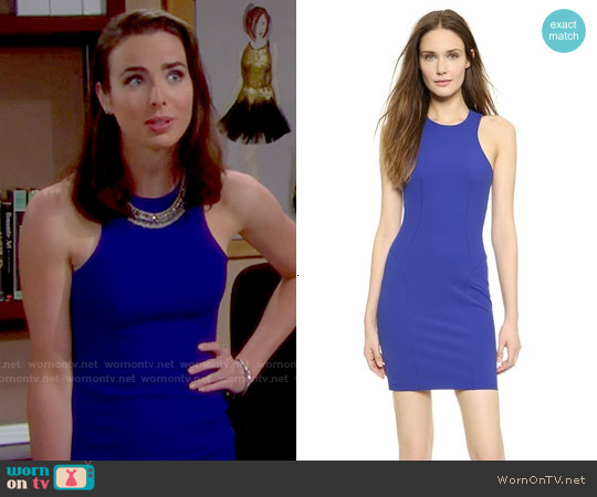 T by Alexander Wang Tech Suiting Dress worn by Ashleigh Brewer on The Bold & the Beautiful