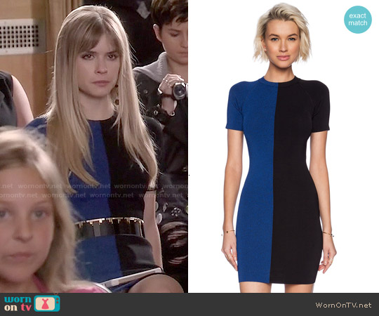 T by Alexander Wang Two Tone Short Sleeve dress worn by Carlson Young on Scream