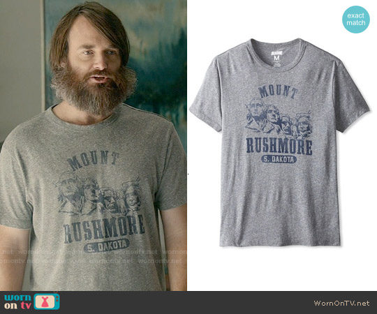 Tailgate Clothing Mount Rushmore T-shirt worn by Will Forte on Last Man On Earth