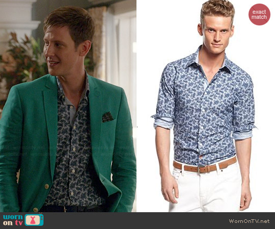 Tallia Blue Paisley Shirt worn by Gabrielle Mann on Revenge