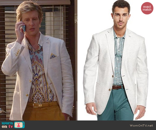 Tallia Orange Multi Dot Linen Blazer worn by Gabrielle Mann on Revenge