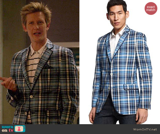 Tallia Plaid Sport Coat worn by Gabrielle Mann on Revenge