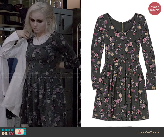 Talula 'Lambeth' Dress in Argentique/Black worn by Rose McIver on iZombie