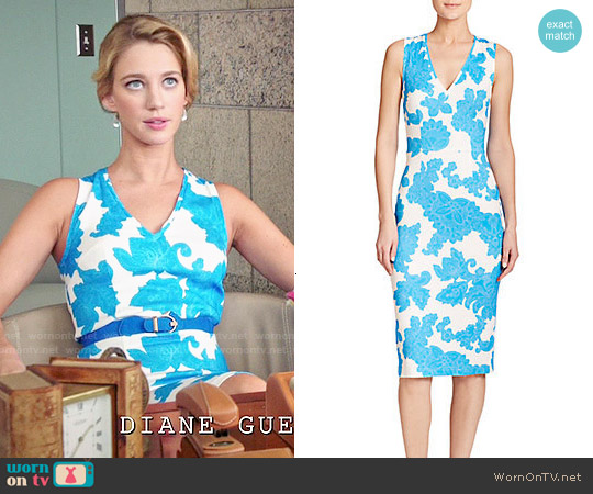 Tanya Taylor Carri Paisley Floral Sheath Dress worn by Yael Grobglas on Jane the Virgin