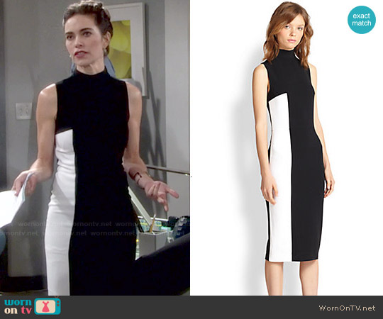 Tanya Taylor 'Lola' Two Tone Turtleneck Dress worn by Amelia Heinle on The Young & the Restless