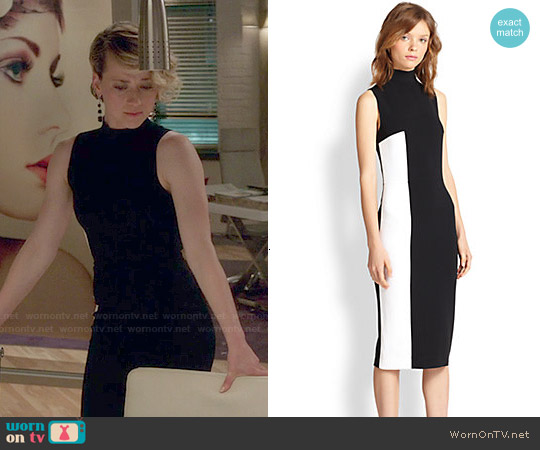Tanya Taylor 'Lola' Two Tone Turtleneck Dress worn by Karine Vanasse on Revenge