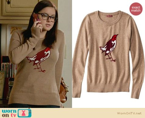 Target Merona Bird Sweater worn by Ariel Winter on Modern Family