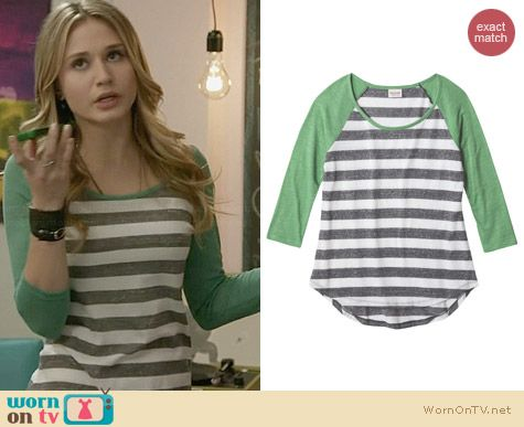 Mossimo Supply Co Striped Tee worn by Rita Volk on Faking It