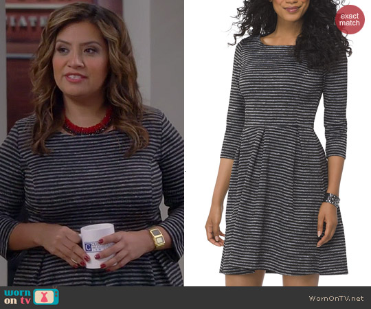 Target Ponte Fit & Flare Dress worn by Cristela Alonzo on Cristela