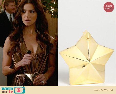 Tasha Gold Star Clutch worn by Roselyn Sanchez on Devious Maids