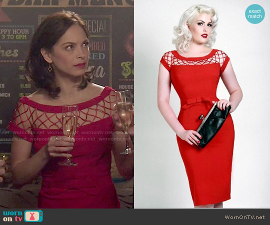 Tatyana Alika Dress in Red worn by Kristin Kreuk on Beauty & the Beast