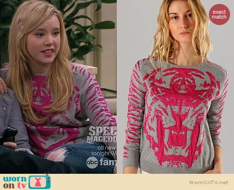 Taylor Sprietler Fashion: Maje Akker Lion Sweater worn on Melissa & Joey