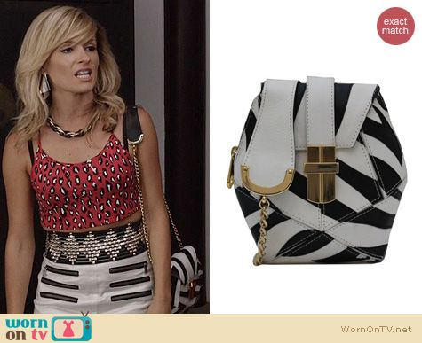 TCD Bags: Angel Jackson Zebra Atomic Box Bag worn by Samantha Jones
