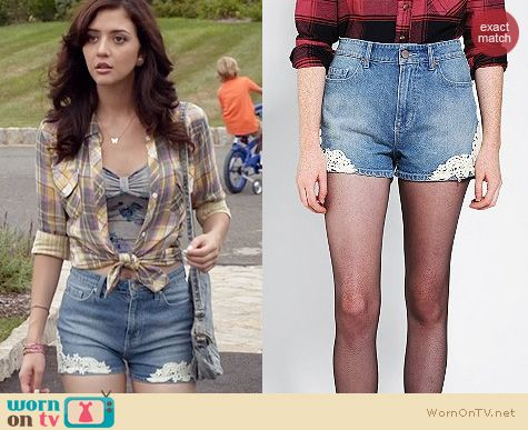 TCD Fashion: BDG Erin High Rise Shorts worn by Katie Findlay