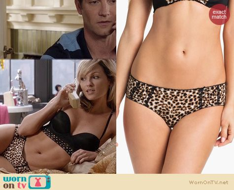 TCD Fashion: Kensie Animal Print Stella Panties worn by Lindsey Gort