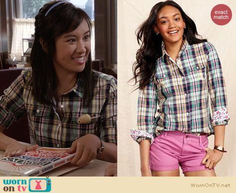 TCD Fashion: Tommy Hilfiger Plaid Shirt worn by Ellen Wong