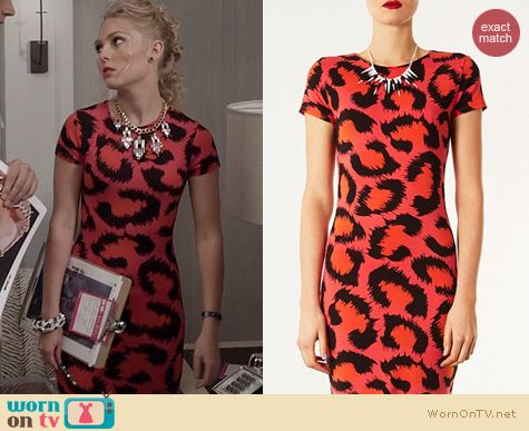 Fashion of The Carrie Diaries: Topshop Cutout Back Leopard Print Dress worn by Carrie Bradshaw