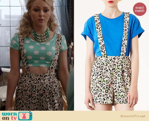 TCD Fashion: Topshop Floral Animal Pinafore worn by Carrie Bradshaw
