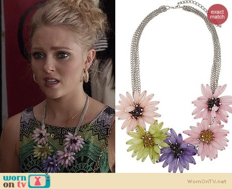 TCD Jewelry: Topshop Oversized Flower Collar Necklace worn by AnnaSophia Robb