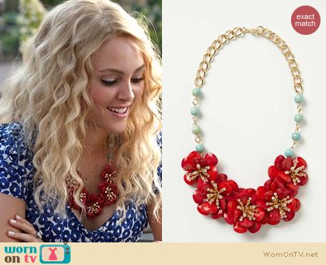TCD Style: Anthropologie Pinwheel Blossoms Bib worn by Carrie Bradshaw