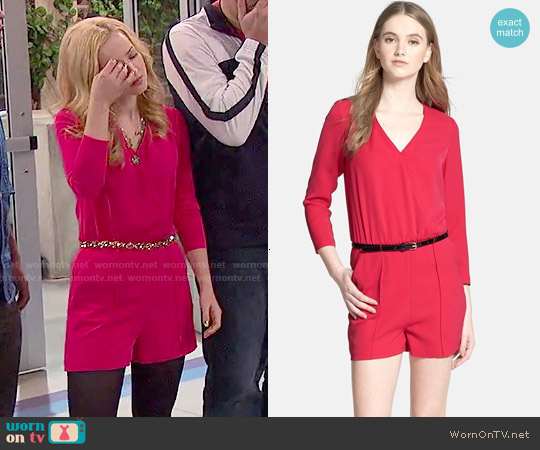 Ted Baker Belted Blouson Romper worn by Dove Cameron on Liv & Maddie