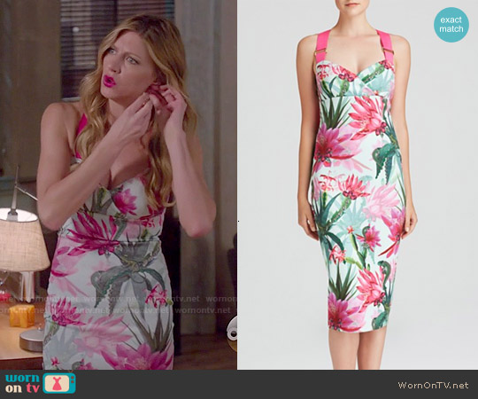 Ted Baker Carpel Chameleon Print Dress worn by Jes Macallan on Mistresses