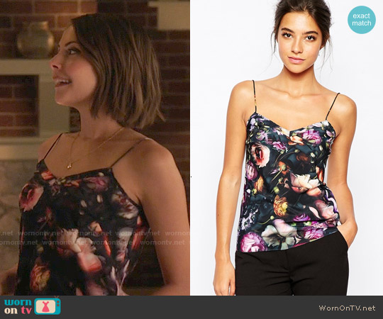 Ted Baker Cynaria Cami worn by Willa Holland on Arrow