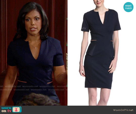 Ted Baker 'Maddiye' Peplum Dress worn by Karla Mosley on The Bold & the Beautiful