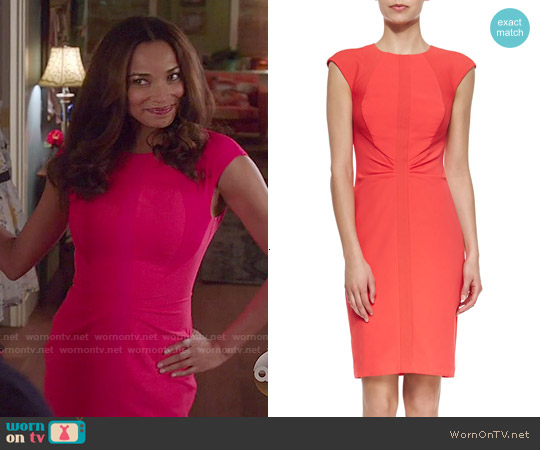 Ted Baker Acerola Dress worn by Rochelle Aytes on Mistresses