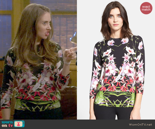 Ted Baker Adolie Floral Sweater worn by Alison Brie on Community