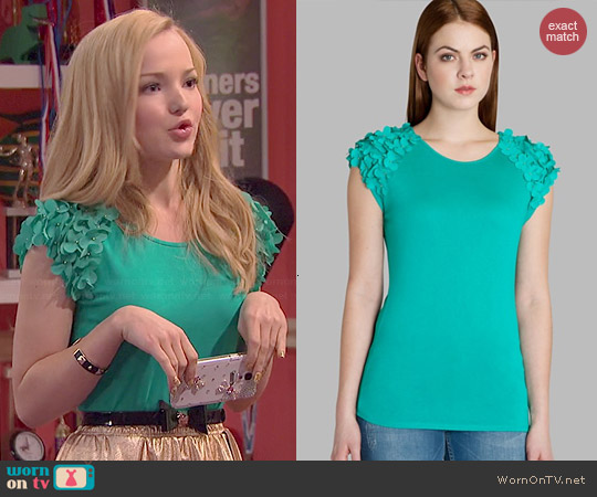 Ted Baker Anissa Floral Applique Top worn by Dove Cameron on Liv & Maddie