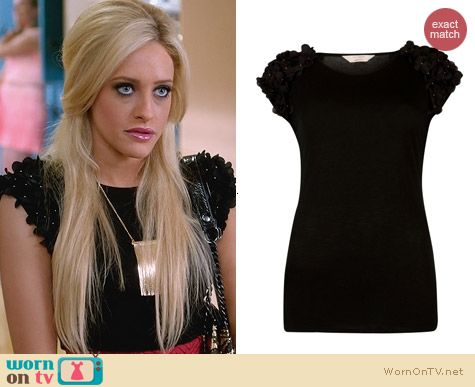 Ted Baker Anissa Top worn by Carly Chaikin on Suburgatory