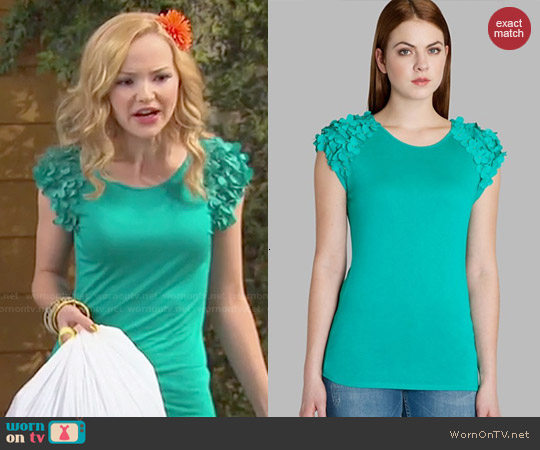 Ted Baker Anissa Top worn by Dove Cameron on Liv & Maddie
