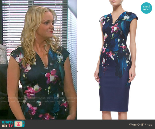 Ted Baker 'Antonya' Floral Sheath Dress worn by Martha Madison on Days of our Lives