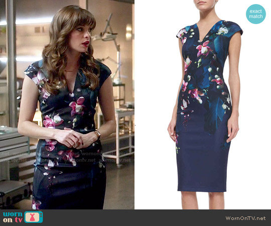 Ted Baker 'Antonya' Floral Sheath Dress worn by Danielle Panabaker on The Flash