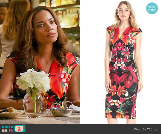 Ted Baker Bismii Dress worn by Rochelle Aytes on Mistresses