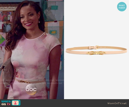 Ted Baker Bowana Skinny Bow Belt worn by April Malloy on Mistresses
