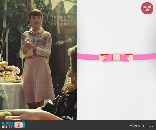 Ted Baker Bowsa Skinny Bow Belt worn by Tatiana Maslany on Orphan Black