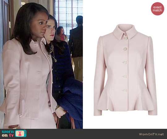 Ted Baker Bracti Jacket in Pale Pink worn by Aja Naomi King on HTGAWM