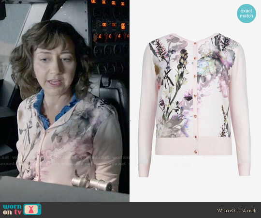 Ted Baker Calin Torchlit Floral Cardigan worn by Kristen Schaal on Last Man On Earth