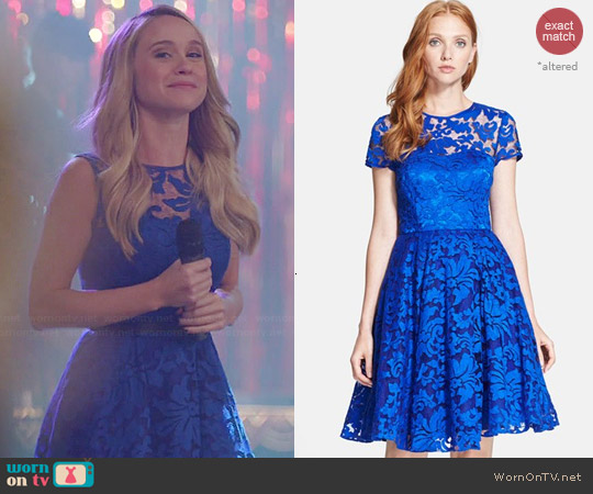 Ted Baker Caree Lace Dress worn by Becca Tobin on Glee